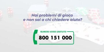 Problemi con il gioco d'azzardo. Numero verde 800 151 000